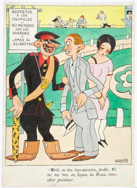 Escena en el parque, 1927. Publicado en Buen Humor el 31 de julio de 1927.