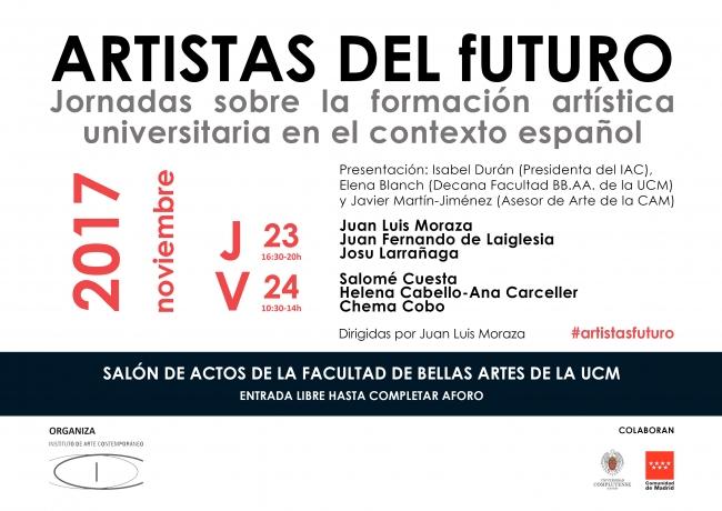 Artistas del futuro. Jornadas sobre la formación artística universitaria en el contexto español