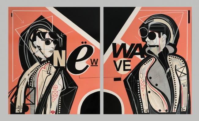 Miguel Caravaca, New wave – Cortesía de Acelerador de Artistas | Ir al evento: 'Ictus'. Exposición de Pintura en Espacio Ciento y Pico / Madrid, España