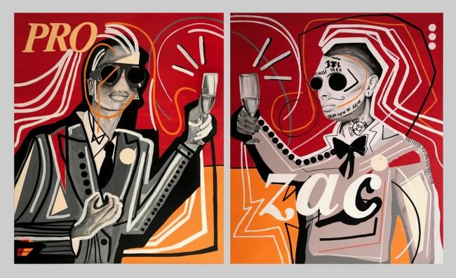 Miguel Caravaca, Prozac – Cortesía de Acelerador de Artistas | Ir al evento: 'Ictus'. Exposición de Pintura en Espacio Ciento y Pico / Madrid, España