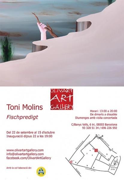 Toni Molins, Fischpredigt | Ir al evento: 'Fischpredigt'. Exposición en Olivart Art Gallery / Barcelona, España