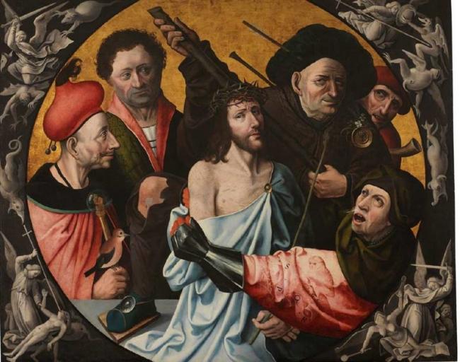 La Coronación de espinas o Las injurias a Cristo Anónimo (1551=1600) Inv. 3047 © Museo Lázaro Galdiano.