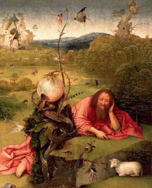 Meditaciones de San Juan Bautista (1485- 1510) Hieronymus Bosch. Óleo sobre tabla Inv. 8155 © Museo Lázaro Galdiano