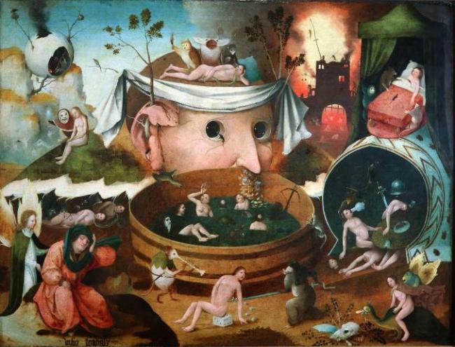 Visión Tondal, obra recientemente atribuida al taller del Bosco Escuela Flamenca Óleo sobre tabla Inv. 2892 © Museo Lázaro Galdiano.