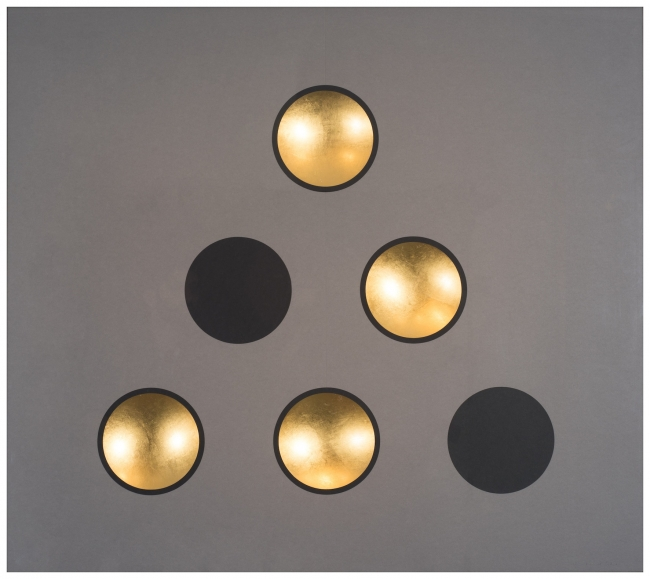 Apertures in Smoke Grey III | Ir al evento: 'Iluminación'. Exposición de Escultura en Encant / Maó, Baleares, España