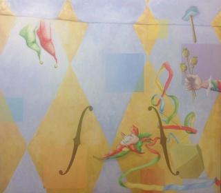 Chema Cobo, Day Dreams Come from Above and Go Nowhere, 2017. Óleo sobre lienzo. 200x230 cm. – Cortesía de la Galería Juan Silió