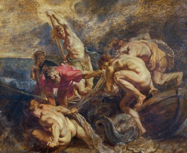 La pesca milagrosa Rubens Óleo sobre tabla, 39,7 x 48,2 cm h. 1610 Colonia, Wallraf-Richartz Museum & Fondation Corboud – Cortesía del Museo del Prado