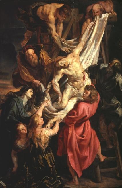 El Descendimiento, Rubens, Óleo sobre tabla, 115,2 x 76,2 cm h. 1611 - 1612 Londres, The Courtauld Gallery, The Samuel Courtauld Trust – Cortesía del Museo del Prado