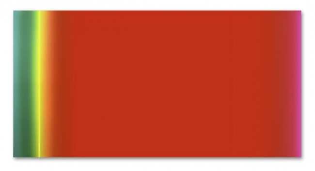 José María Yturralde, Rubedo, 2018. Acrílico sobre lienzo. 190 x 380 cm. / Acrylic on canvas. 75 x 149 1/2 in. – Cortesía de la Galería Javier López & Fer Francés