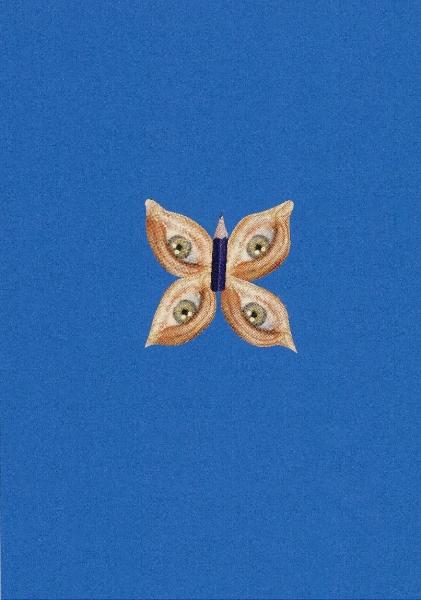 Francisco Aliseda, Idea, 2015. Collage sobre cartulina, 7,5 x 7,5 cm/ 21 x 30 cm.