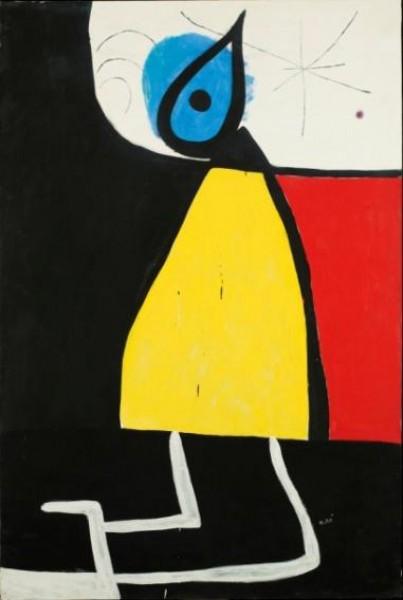 Joan Miró, Femme dans la nuit, 1973. Fundació Joan Miró, Barcelona