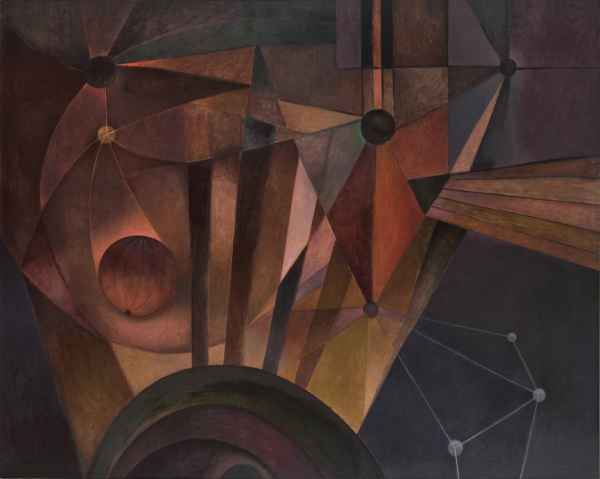 Rafael Soriano, Galaxia (Galaxy), 1974, oil on canvas, 40 x 50´´, Zelaya Rodríguez Collection