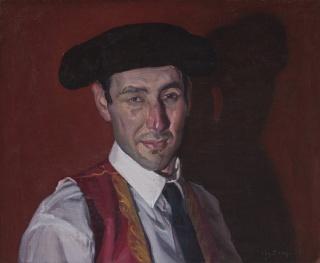 "Andrés García Ibáñez: Torero III, aus der Serie ""Minotauromaquia"", 2012, Öl auf Leinwand, 46 x 57 cm, Privatbesitz, © Andrés García Ibáñez"