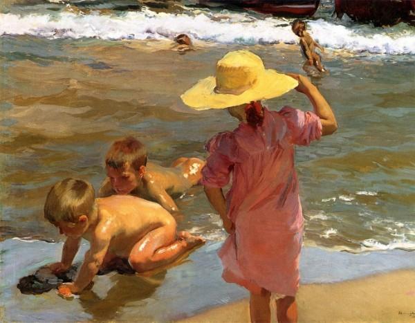 Joaquín Sorolla, Niños a la orilla del mar, 1903 por cortesía del Museo de Filadelfia