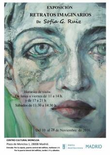"""Cartel \""""Retratos\"""" Sofía G. Ruiz"""