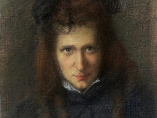 Detalle de Retrato de Laura Rodig por Judith Alpi