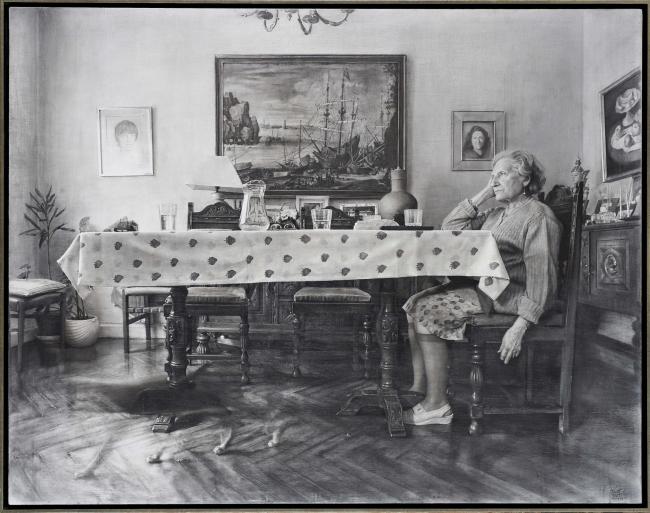 """La sobremesa"" de Fausto Martín | Ir al evento: 'Figurativas 2017 y ARC Salon'. Exposición en Museu Europeu d'Art Modern (MEAM) / Barcelona, España"