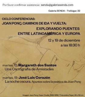 Cartel del ciclo de conferencias. Cortesía Galería Senda (Barcelona)