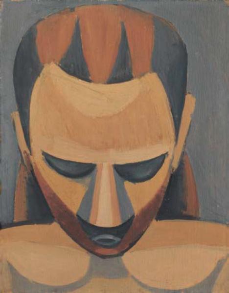 Pablo Picasso, Cabeza de hombre (Tête d´homme), 1908. Óleo sobre madera, 27 x 21 cm. Hermann und Margrit Rupf –Stiftung, Kunstmuseum Bern © Sucesión Pablo Picasso, VEGAP, Madrid, 2016