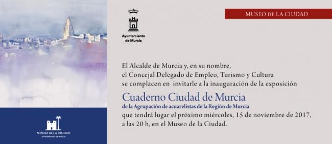 Cuaderno Ciudad de Murcia de la Agrupación de acuarelistas de la Región de Murcia