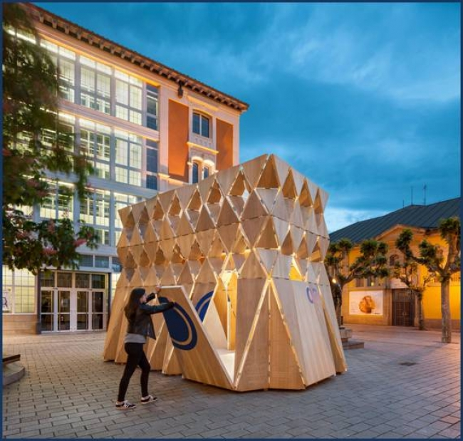 Bouzas, Bouzas y Álvarez - Origami  – Cortesía del Festival Internacional anual de Arte, Arquitectura y Diseño de Logroño: CONCÉNTRICO