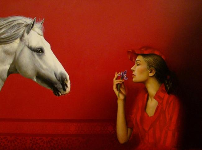 Te mandaré un beso en la flor | Ir al evento: 'Pasión por la Vida'. Exposición de Pintura en Museo Etnográfico Extremeño González Santana / Olivenza, Badajoz, España