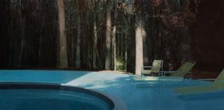 Guillermo Oyágüez Montero, STRANGERS THINGS T1-E3, Luces navideñas 38´17´´.  97x195cm., óleo-lino – Cortesía de Ansorena Galería de Arte