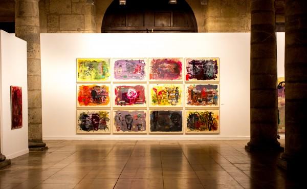 Vista de la exposición | Ir al evento: 'La huella y el color'. Exposición de Pintura en Centro de Arte Palacio del Almudí / Murcia, España