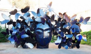 Manolo Valdés: Las Mariposas, 2016, hierro, 5.40 x 12 x 6.60 m