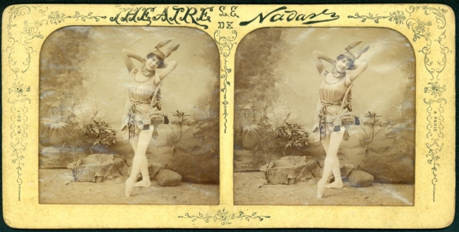 B. K. Edit a París. Teatro de Nadar. Vista estereoscópica. 1870. © Fototeca Antica, A. C. / Colección Jorge Carretero Madrid – Cortesía de FotoMéxico 2017