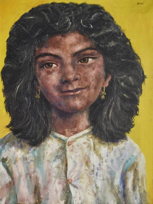 """ANTONIO BERNI, """"La changa de pelo negro"""". Escuela Argentina, (1905-1981) — Cortesía de Martin Sarachaga Subastas"""