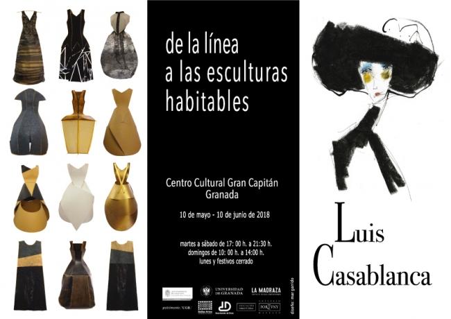 tríptico exterior Luis Casablanca de la línea a las esculturas habitables
