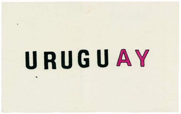 Jorge Caraballo. Urugu(ay), 1973. Xerografía y tinta sobre papel. 22,5 x 36 cm