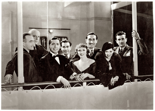"""Carlos Gardel durante el rodaje de la película """"El día que me quieras"""", para la compañía Paramount en Nueva York. Año 1935. (Foto: colección Horacio Loriente)"""