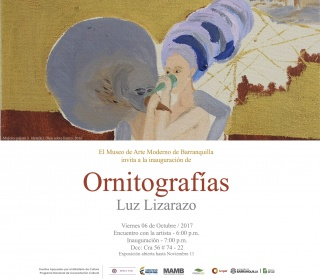 Invitación exposición: Ornitografías.