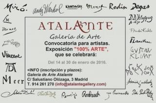 Convocatoria de artistas para exposición `100% Arte´