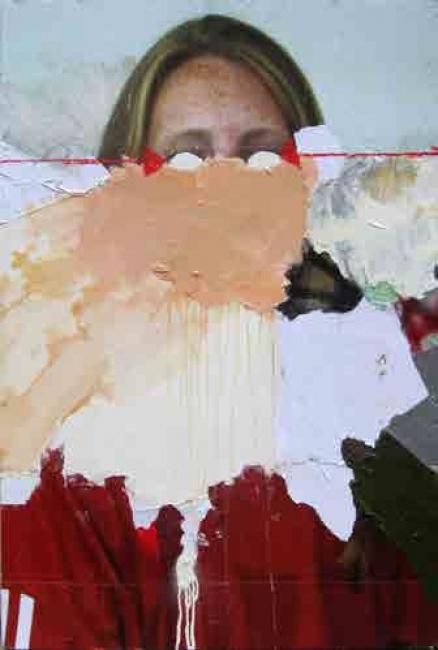 Skum, The Frenhofer offer. Técnica mixta sobre madera, 77,5 x 116 cm., 2014 - Cortesía de la Galería Contrast   Ir al evento: 'Vicio, estropicio y desperdicio'. Exposición de Arte urbano, Pintura en Contrast / Barcelona, España
