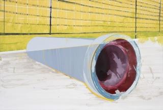 Isabel Simões (1981), «Oiro», 2005. Tinta acrílica sobre tela. 130 × 195 cm. Coleção Moderna