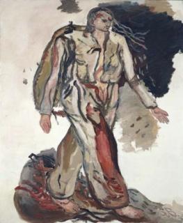 Georg Baselitz, Bonjour Monsieur Courbet, 1965. Óleo sobre lienzo, 162x130 cm Colección Thaddaeus ropac, Paris-Salzburgo
