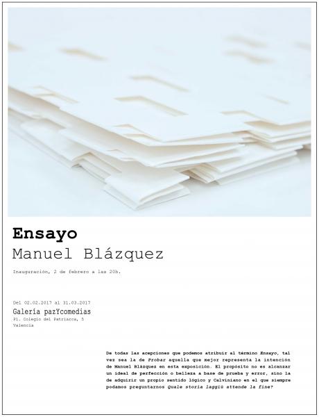 Manuel Blázquez. Ensayo