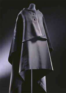 Evening gown and cape, Cristóbal Balenciaga, 1967, Paris, France. Musuem no. T.39&A-1974. © Victoria and Albert Museum, London