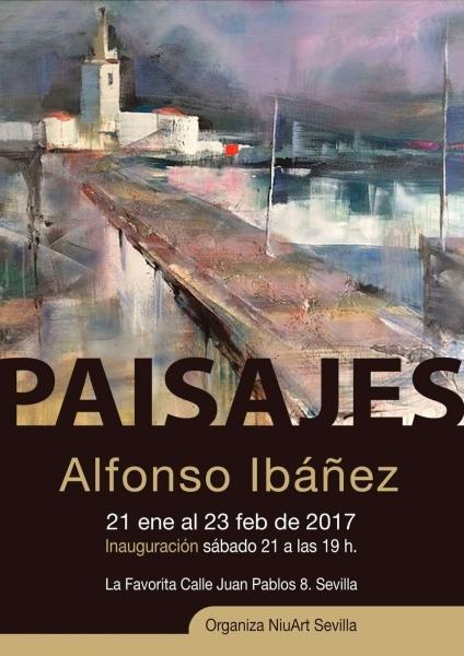 """Cartel de la exposición \""""Paisajes\"""""""