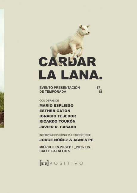 Cardar la lana | Ir al evento: 'Cardar la lana'. Exposición en Espositivo / Madrid, España