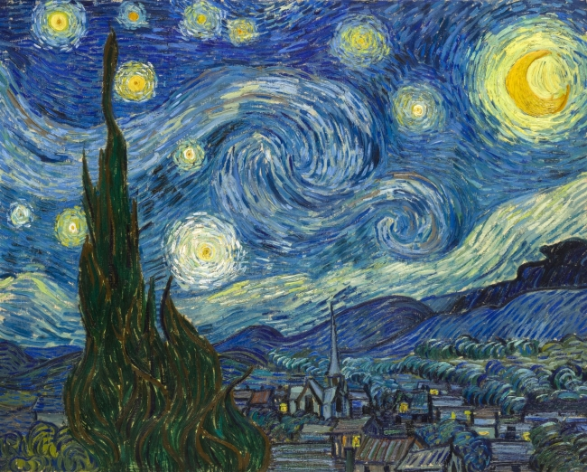 Van Gogh, Starry Night – Cortesía de Grande Exhibitions