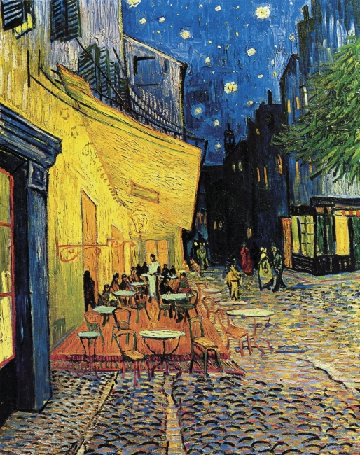 Van Gogh, The Cafe Terrace on the Place du Forum, Arles, at Night – Cortesía de Grande Exhibitions