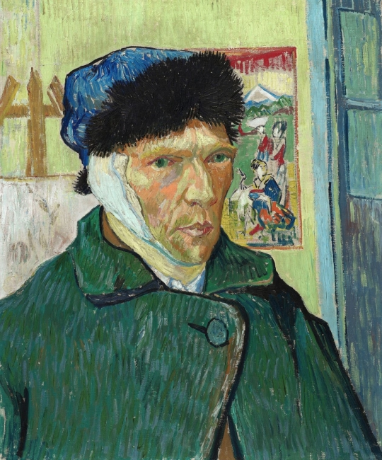 Van Gogh, Van Gogh Self-portrait with Bandaged Ear – Cortesía de Grande Exhibitions