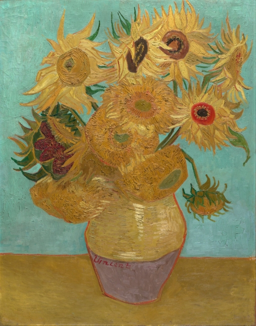 Van Gogh, Vase with Twelve Sunflowers, January 1889 – Cortesía de Grande Exhibitions