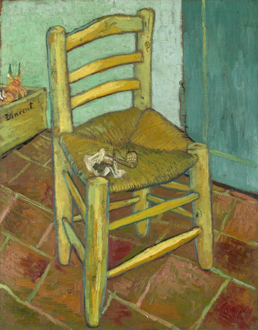 Van Gogh, Vincent's Chair with His Pipe – Cortesía de Grande Exhibitions