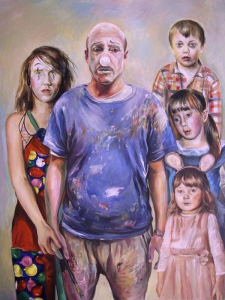 La famille Pahlavi, 2012-2016. Huile sur toile, 200 x 150 cm