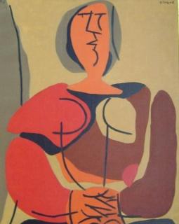 Luis Seoane. ST. Óleo sobre lienzo. 80 x 64 cm.